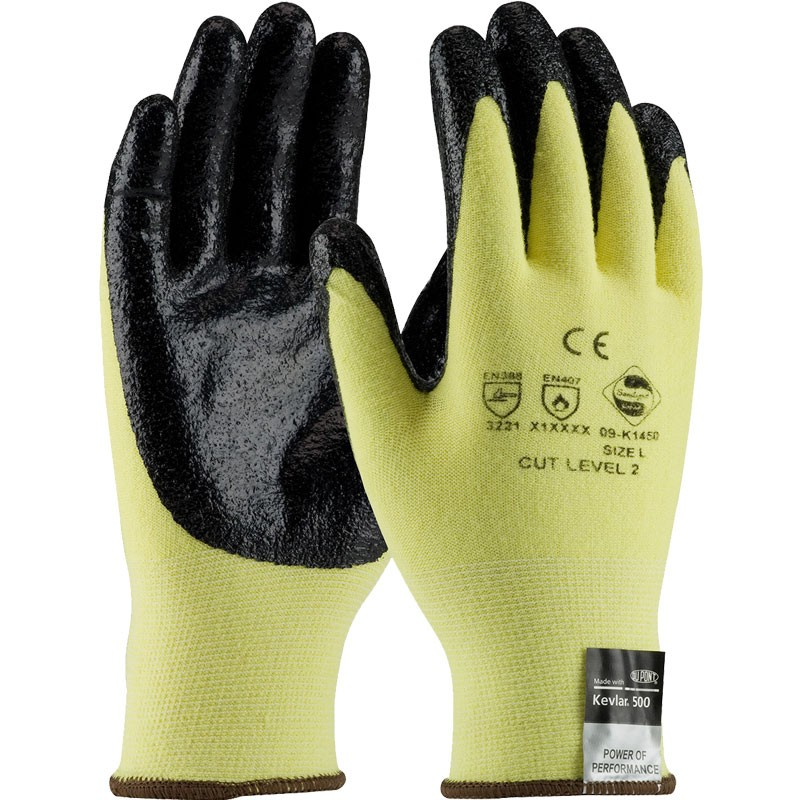Kut-Gard® Kevlar® / Lycra® Light Weight Cut-Resistant Nitrile Coated Gloves, Large