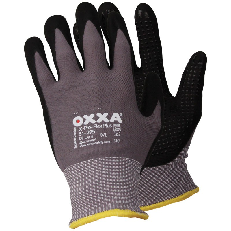 51-295/XL Pro-Flex X-Large Nitrile Coated Micro Foam Gloves with Dots