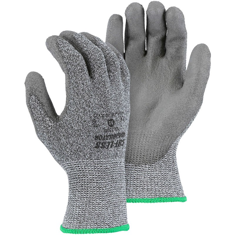 Annihilator® Cut-Resistant Glove, Polyurethane Coated Palm, Medium