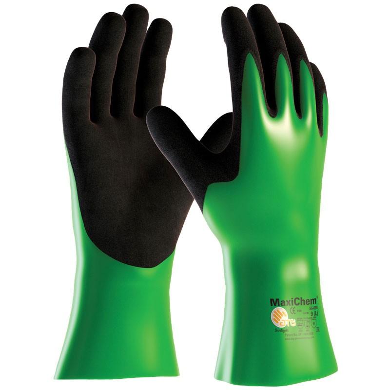 MaxiChem® Chemical Resistant Nitrile Gloves, Large