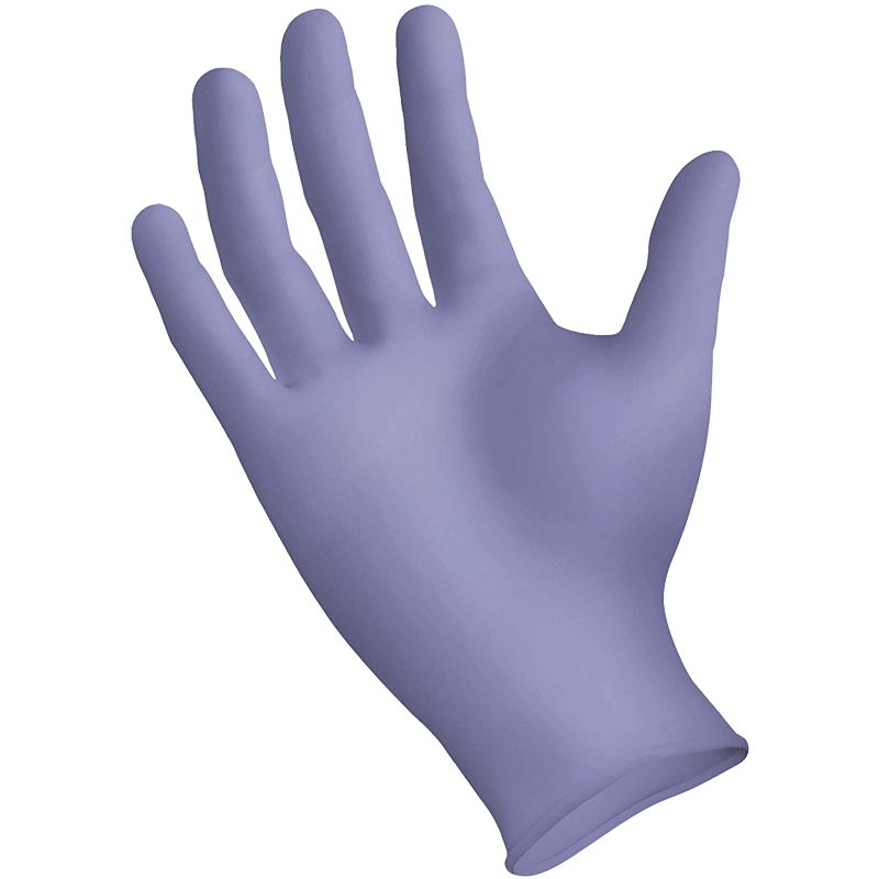 StarMed® Ultra 3 Mil Purple Nitrile Glove, Powder Free, Textured Grip, Large