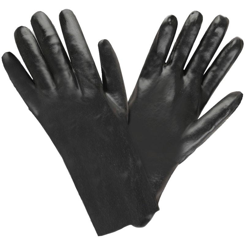 "12"" PVC Dipped Glove, Smooth Grip, Interlock Lining, Universal Size"