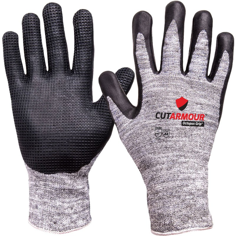CutArmour™ Cut Resistant Glove with Octopus Grip™, Large