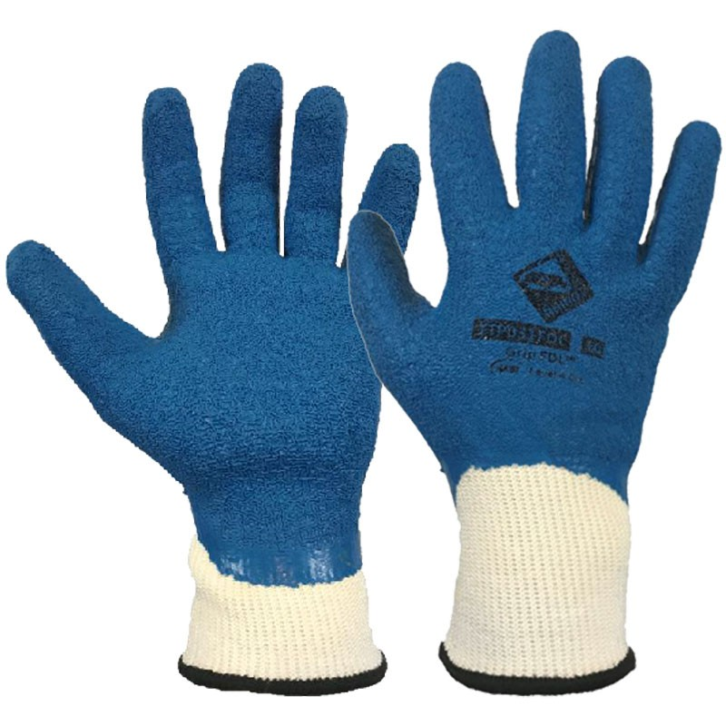 Grip FDL™ Cut-Resistant Glove, Full Latex Crinkle Dip, Small