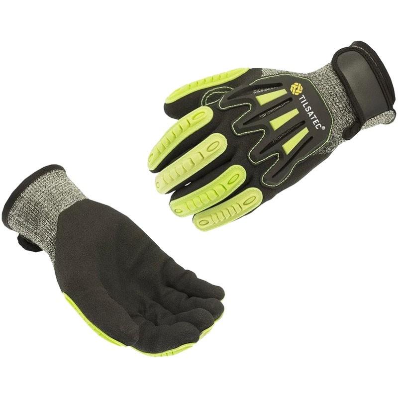RhinoYarn® Cut-Resistant Glove W/ Impact Strips, Dipped Sandy Nitrile Grip, Large