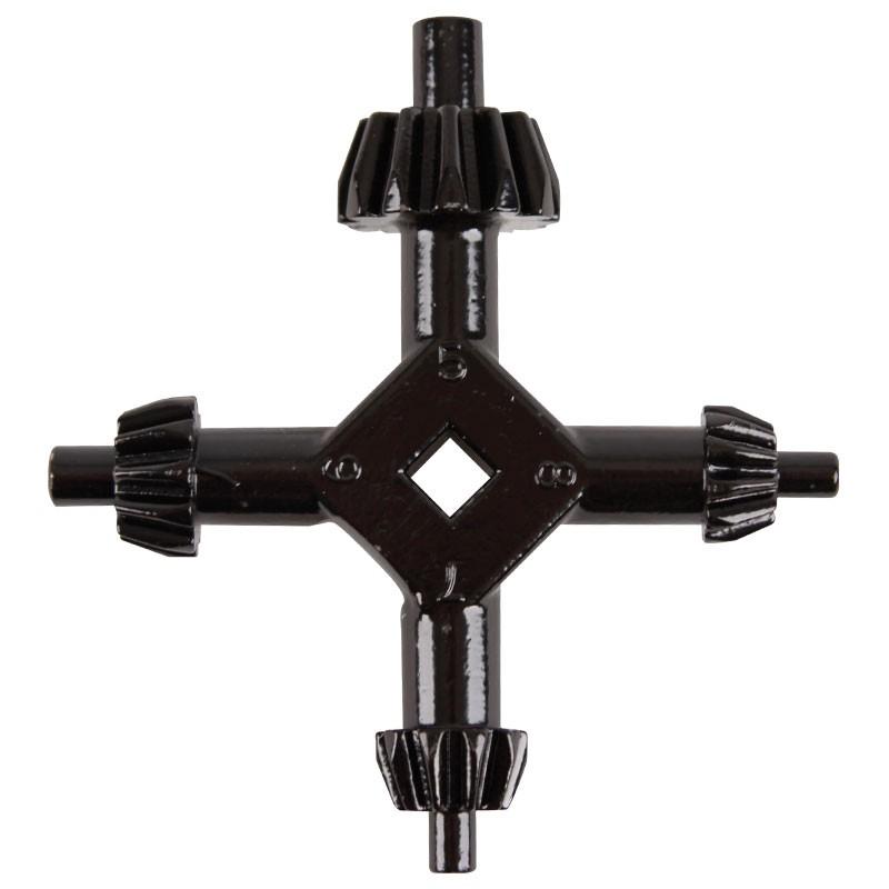 Large 4-Way Master Chuck Key, fits K2, K3, K32, & K4 Size Chucks