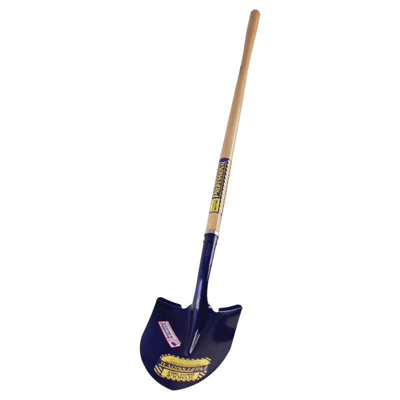 "Round Head Shovel 48""  Wood Handle"