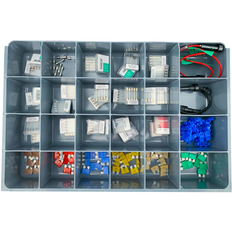 AUTOMOTIVE FUSE ASSOTMENT WITH 24-COMPARTMENT DRAWER