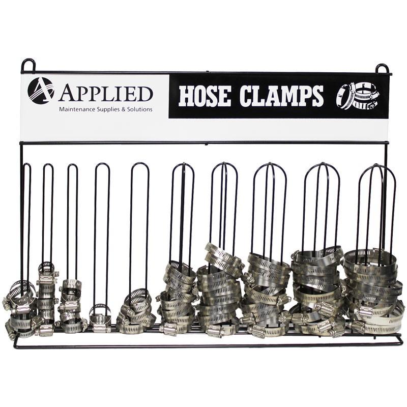 Hose Clamp Assortment, w/ 10-Post Rack  #4 - #36