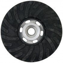 "4-1/2"" x 5/8-11"" Spiralcool Rubber Back Up Pad"