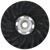"7"" x 5/8-11"" Spiralcool Rubber Back Up Pad"