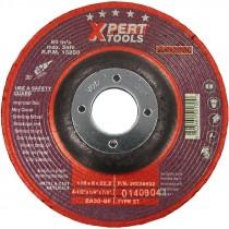 "9"" x 1/4"" x 7/8"" ZA30BF Type 27 Zirconium Grinding Wheel (Max RPM: 6,640)"
