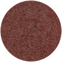 "5"" Medium (Maroon) Hook and Loop Surface Conditioning Disc"