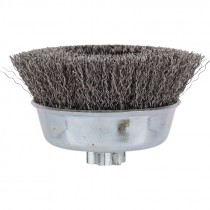 "2 3/4"" x 5/8-11"" Crimped Wire Cup Brush .012 Wire - Carbon Steel"