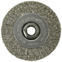 "4"" x 5/8-11 Crimped Wire Wheel - Stainless Steel (.014 Wire)"