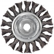 "4"" x 5/8-11"" Knot Wire Wheel .020 Wire - Stainless Steel"