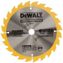 "6-1/2"" 24 TPI Dewalt® Carbide Tip Circular Saw Blade"