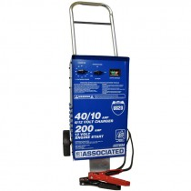 #US20 6/12 Volt Wheeled Fast Battery Charger, 40 Amp Continuous, 90 Minute Timer, 200 Amp Crank Assist