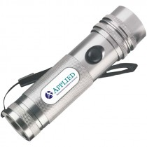 80 Lumen, Aluminum 12-LED Flashlight w/ Applied MSS Logo, (3) AAA Batteries