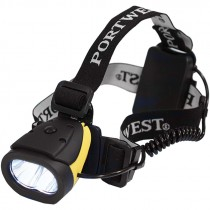 100 Lumen Dual Power LED Head Light, (3) AAA Batteries