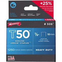 T-50  3/8 CROWN X 3/8 LEG STAPLES 1,250 PER PACK