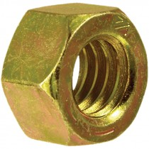 1-8 Grade 8 Yellow Zinc Plated Hex Nut