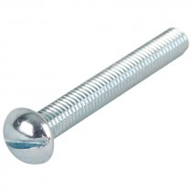 "3/8-16 x 4"" Slotted Round Head Machine Screw"