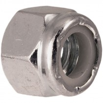 7/8-9 Grade 2 Zinc Plated Nylon Lock Nut