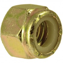 1-8 Grade 8 Zinc Yellow Plated Nylon Lock Nut