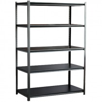 "Boltless Z-Beam Rivet Steel Shelving with Laminate Shelves, 48"" x 24"" x 72"""