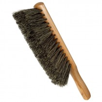 "9"" Black Horse Hair Beaver-Tail Counter Duster"
