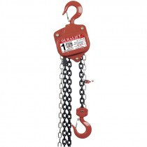 1 TON CHAIN HOIST W/ HOOK/// MANUAL WITH 10 FT LIFT