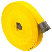 "2-1/2"" x 50' Double Jacketed 800-Test Fire Hose w/ Aluminum NH (NST) Couplings, Yellow"