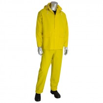3-Piece Rainsuit, .35 mm, Yellow, Large