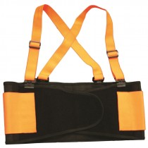 Medium Orange Hi-Vis Back Support