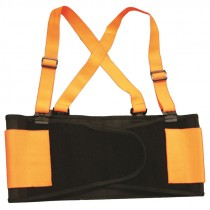 Large Orange Hi-Vis Back Support