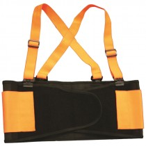 2-XL Orange Hi-Vis Back Support