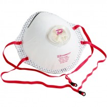 N95 Particulate Respirator, with Exhalation Valve, (2) Welded Elastic Headstraps