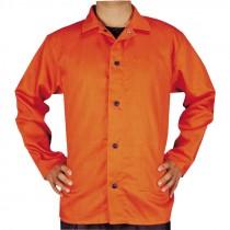 2-XL Safety Orange Cotton Welding Jacket