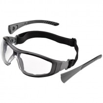 Go-Specs II™ Foam-Lined Safety Goggles, Interchangeable Temples/Strap, Clear Lens - Anti-Scratch/Anti-Fog