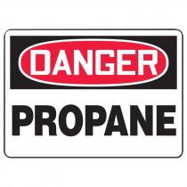 "7"" x 10"" Danger Propane Sign"