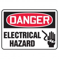 "7"" x 10"" Danger Electrical Hazard Sign"