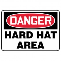 "7"" x 10"" Danger Hard Hat Area Sign"