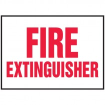 "5"" x 7"" Fire Extinguisher Label/Sign, Adhesive Vinyl, 5 per Pack"