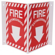 "12"" x 14"" x 7"" Fire Extinguisher Projection Sign"