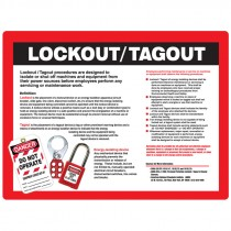 "18"" x 24"" Safety Awareness Poster, Lockout / Tagout"