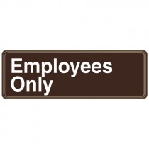 "3"" x 9"" Employee Only DECO-SHIELD™ Sign"