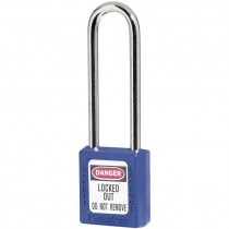 "Safety Lockout Padlock 3"" Shackle, Blue, Keyed Different"