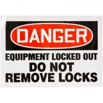 "Lockout/Tagout Labels, 3 1/2"" x 5"", Magnetic Vinyl"