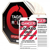 DANGER LOCKED OUT DO NOT REMOVE TAGS100 TAGS/ROLL